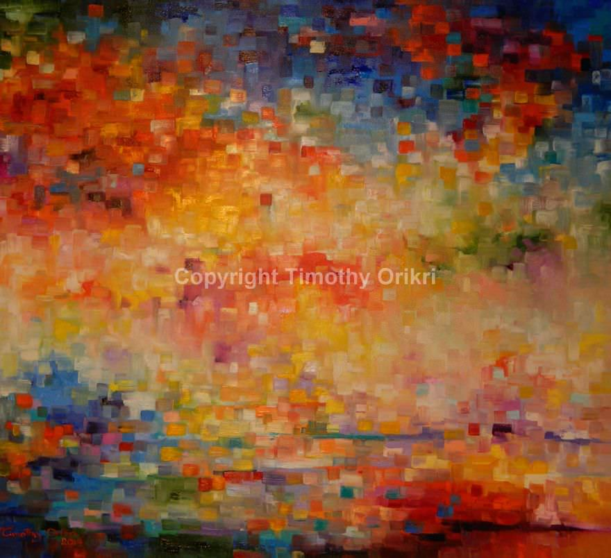 Abstract Paintings Mixed Media Art Timothy Orikri
