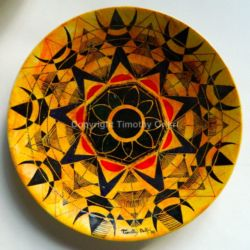 Abstraction VIII - Hausa Motif I Hand-painted Ceramic Plate