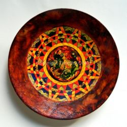 Abstraction XI - Hand-painted Ceramic Plate