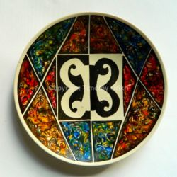 African Motif Hand-painted Ceramic Plate