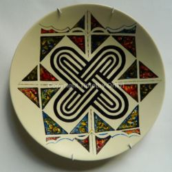 Hausa Motif I - Hand Painted Ceramic Plate