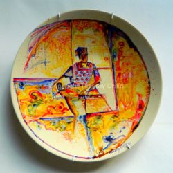 Love my Mother III - Hand Painted Ceramic Plate Design